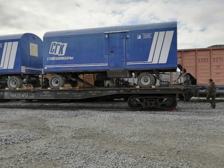 Мультимодальная перевозка вагон-домов